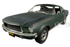 1968 Ford Mustang GT Fastback Green Unrestored Bullitt Kissimmee Florida 2020 Mecum Auctions Collector Cars 1/18 Diecast Model Car Greenlight 13551