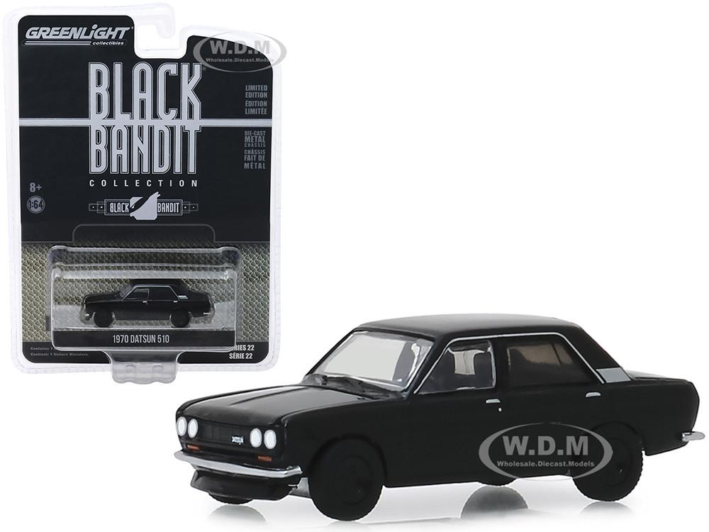 Greenlight 1//64 Black Bandit 22 1970 Datsun 510 4 Door Sedan 28010A