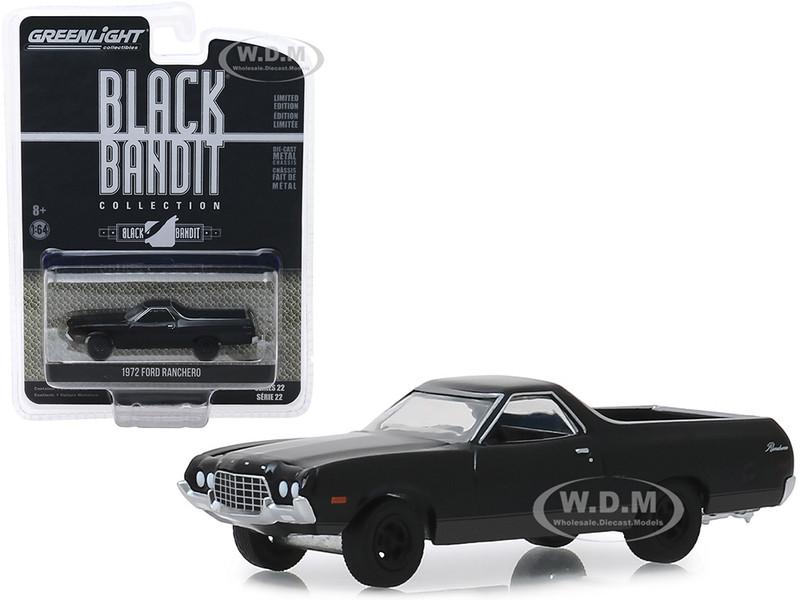 1972 Ford Ranchero Black Bandit Series 22 1/64 Diecast Model Car Greenlight 28010 B