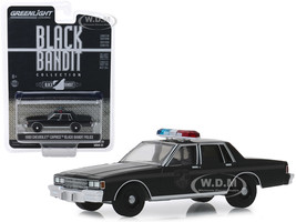 1980 Chevrolet Caprice Black Bandit Police Black Bandit Series 22 1/64 Diecast Model Car Greenlight 28010 D