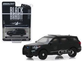 2020 Ford Police Interceptor Utility Black Bandit Police Black Bandit Series 22 1/64 Diecast Model Car Greenlight 28010 F