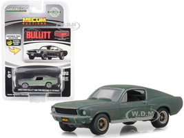 1968 Ford Mustang GT Fastback Green Unrestored Bullitt Kissimmee Florida 2020 Mecum Auctions Collector Cars 1/64 Diecast Model Car Greenlight 30136
