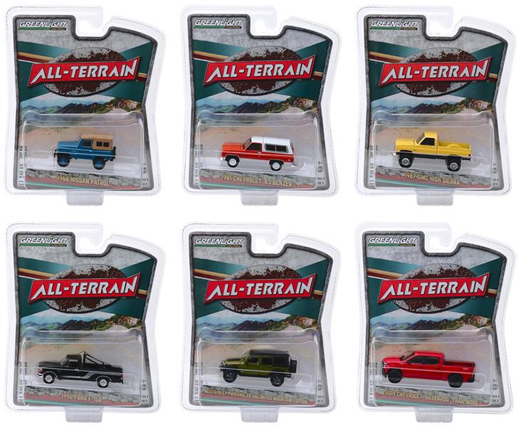 All Terrain Series 9 Set of 6 pieces 1/64 Diecast Model Cars Greenlight 35150