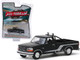 1992 Ford F-150 Pickup Truck Raven Black Silver Stripes All Terrain Series 9 1/64 Diecast Model Car Greenlight 35150 D