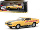 1973 Ford Mustang Mach 1 Custom Movie Star Eleanor Yellow Black Stripe Post-Filming Tribute Edition Gone in 60 Seconds 1974 Movie 1/43 Diecast Model Car Greenlight 86571