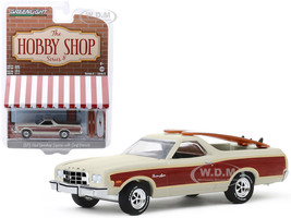 1973 Ford Ranchero Squire Beige Woodgrain Two Surfboards The Hobby Shop Series 8 1/64 Diecast Model Car Greenlight 97080 A