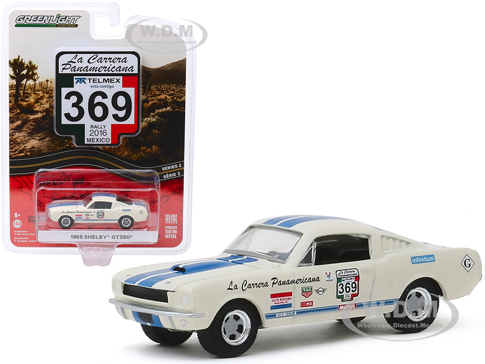Greenlight 1:64 Scale La Carrera Panamericana 1965 Shelby GT350 #356