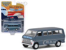 1969 Ford Club Wagon Van Blue Global Airlines Hobby Exclusive 1/64 Diecast Model Greenlight 30129