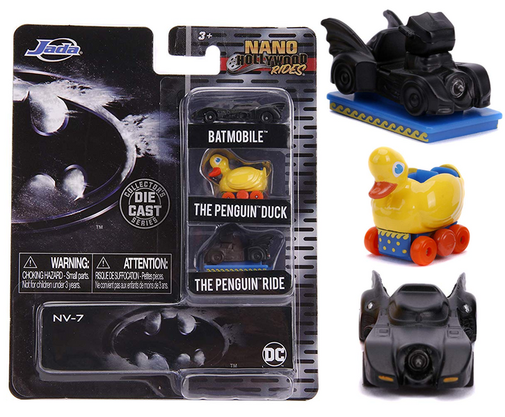 Batman 3 piece Set Nano Hollywood Rides Diecast Model Cars Jada 31616