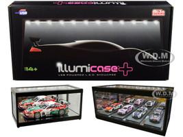 Collectible Display Show Case Illumicase+ LED Lights and Mirror Base Back 1/64 1/43 1/32 1/24 1/18 Scale Models Illumibox MJ7710