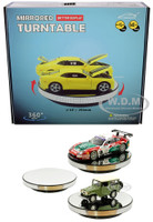 Mirrored Rotary Display Turntable Stand 10 inches USB Powered 1/24 1/18 Scale Models MJ11010