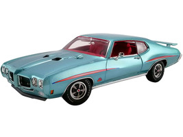 1970 Pontiac GTO Judge Mint Turquoise Metallic Red Interior Limited Edition 588 pieces Worldwide 1/18 Diecast Model Car ACME A1801213