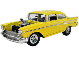 1957 Chevrolet 210 Canary Yellow The Hollywood Knights 1980 Movie Tribute Edition Limited Edition 876 pieces Worldwide 1/18 Diecast Model Car ACME A1807006