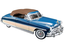 1952 Hudson Hornet Convertible Admiral Blue Boston Ivory Brown Top Limited Edition 516 pieces Worldwide 1/18 Diecast Model Car ACME A1807504