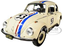 Volkswagen Beetle Racing #53 Cream 1/18 Diecast Model Car Solido S1800505