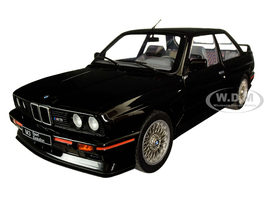 1990 BMW E30 Sport Evo Black 1/18 Diecast Model Car Solido S1801501