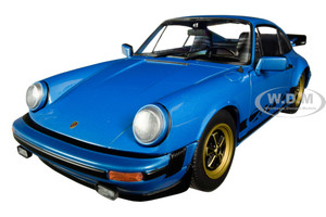 1984 Porsche 911 Carrera 3.0 Coupe Minerva Blue Metallic 1/18 Diecast Model Car Solido S1802601