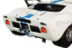 Ford GT40 Widebody White Blue Stripes 1/18 Diecast Model Car Solido S1803002
