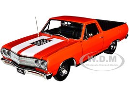 1965 Chevrolet El Camino Drag Outlaws Red White Stripes Limited Edition 354 pieces Worldwide 1/18 Diecast Model Car ACME A1805411