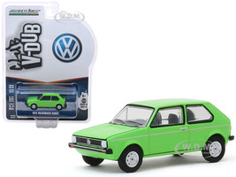 1975 Volkswagen Rabbit Bright Green Club Vee V-Dub Series 10 1/64 Diecast Model Car Greenlight 29980 D