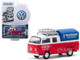 1976 Volkswagen T2 Type 2 Double Cab Pick-Up Roof Rack Canopy Volkswagen Road Service Red White Club Vee V-Dub Series 10 1/64 Diecast Model Car Greenlight 29980 E