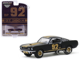 1966 Ford Mustang Shelby GT350H #92 BP Black Gold Stripes Hobby Exclusive 1/64 Diecast Model Car Greenlight 30123
