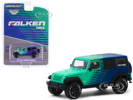 2017 Jeep Wrangler Unlimited Falken Tires Hobby Exclusive 1/64 Diecast Model Car Greenlight 30124