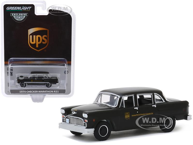 1975 Checker Marathon A11 Parcel Delivery United Parcel Service Canada Ltd UPS Dark Brown Hobby Exclusive 1/64 Diecast Model Car Greenlight 30128