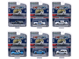 Hot Pursuit Series 33 Set of 6 Police Cars 1/64 Diecast Models Greenlight 42900