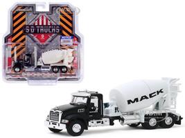 2019 Mack Granite Concrete Mixer Mack Fleet Management Services Show Truck Black White SD Trucks Series 9 1/64 Diecast Model Greenlight 45090 B