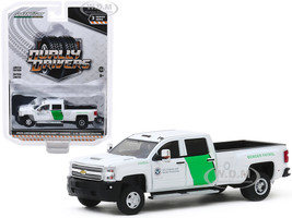 2018 Chevrolet Silverado 3500HD Dually Pickup Truck US Customs and Border Protection Border Patrol White Dually Drivers Series 3 1/64 Diecast Model Car Greenlight 46030 B