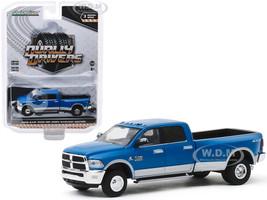 2018 Dodge Ram 3500 Big Horn Harvest Edition Dually Pickup Truck New Holland Blue Dually Drivers Series 3 1/64 Diecast Model Car Greenlight 46030 D