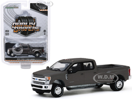 2019 Ford F-350 Lariat Dually Pickup Truck Stone Gray Metallic Dually Drivers Series 3 1/64 Diecast Model Car Greenlight 46030 F