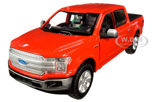019 Ford F-150 Lariat Crew Cab Pickup Truck Red 1/24-1/27 Diecast Model Car by Motormax 79363r
