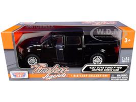 2019 Ford F-150 Limited Crew Cab Pickup Truck Black 1/24 1/27 Diecast Model Car Motormax 79364