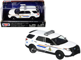 2015 Ford Police Interceptor Utility Royal Canadian Mounted Police RCMP White 1/43 Diecast Model Car Motormax 79479