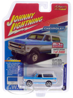 1970 Chevrolet Blazer Custom Blue White Limited Edition 2400 pieces Worldwide 1/64 Diecast Model Car Johnny Lightning JLCP7313