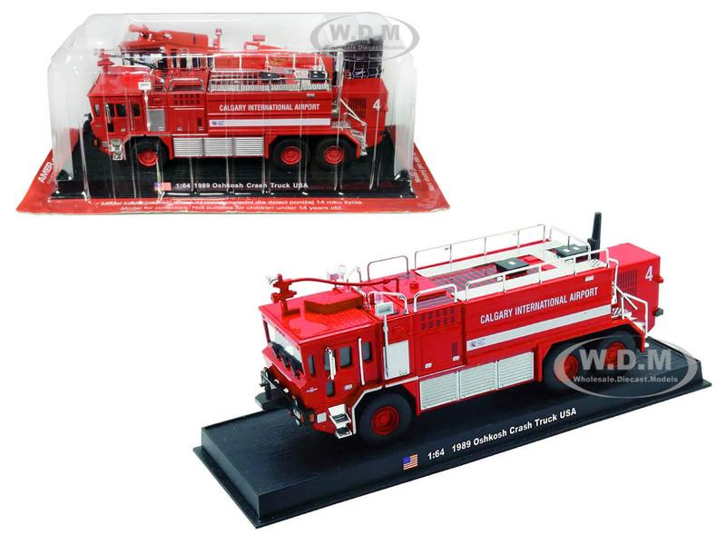 1989 Oshkosh Crash Fire Engine Calgary International Airport Calgary Alberta Canada 1/64 Diecast Model Amercom ACGB03