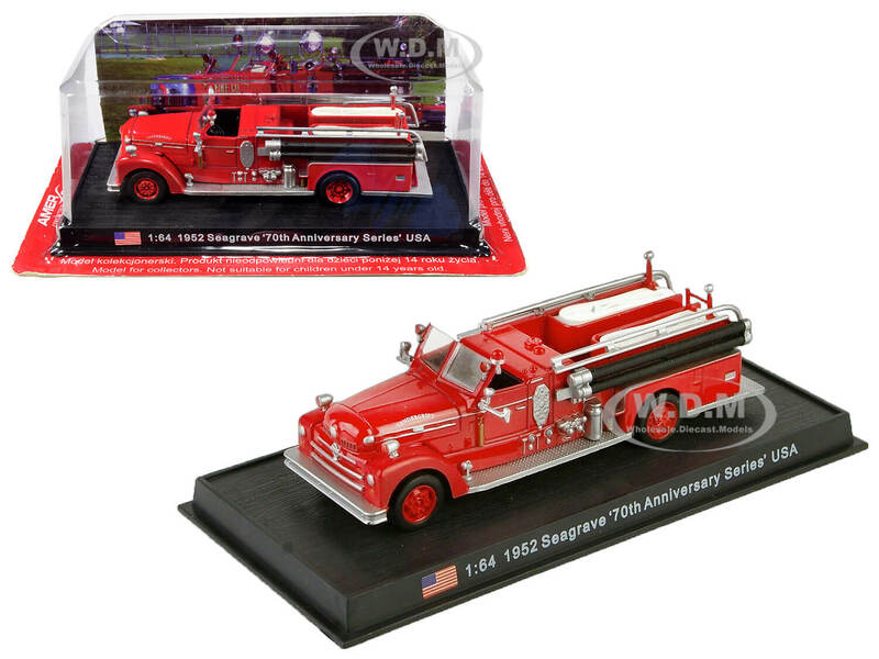 1952 Seagrave Fire Engine 70th Anniversary Series Vandergrift Pennsylvania 1/64 Diecast Model Amercom ACSF19