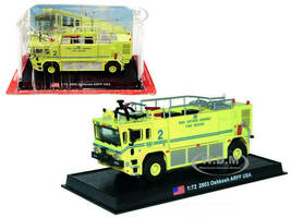 2003 Oshkosh ARFF Fire Rescue Engine Long Island Mac Arthur Airport Ronkonkoma New York 1/72 Diecast Model Amercom ACSF40