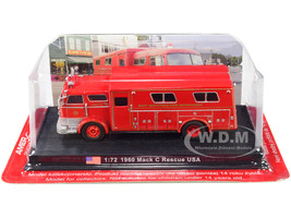 1960 Mack C Heavy Fire Rescue Truck West Hempstead Fire Department West Hempstead New York 1/72 Diecast Model Amercom ACSF49