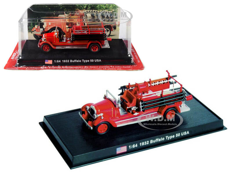 1932 Buffalo Type 50 Fire Engine Montville New Jersey 1/64 Diecast Model Amercom ACSF52