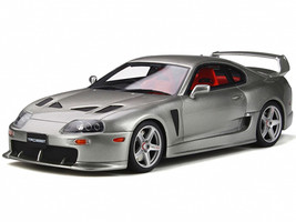 Toyota Supra 3000 GT TRD RHD Right Hand Drive Quick Silver Metallic Clearcoat Red Interior Limited Edition 1500 pieces Worldwide 1/18 Model Car Otto Mobile OT303