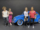 Partygoers 9 piece Figurine Set for 1/24 Scale Models American Diorama 38321 38322 38323 38324 38325 38326 38327 38328 38329