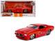 1971 Pontiac GTO Judge Glossy Red Bigtime Muscle 1/24 Diecast Model Car Jada 31645