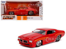 1971 Pontiac GTO Judge Glossy Red Bigtime Muscle 1/24 Diecast Model Car Jada 31645