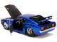 1970 Ford Mustang Boss 429 Candy Blue Black Hood Bigtime Muscle 1/24 Diecast Model Car Jada 31647