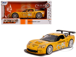2005 Chevrolet Corvette C6-R #4 Olivier Beretta Oliver Gavin Compuware Yellow Bigtime Muscle 1/24 Diecast Model Car Jada 31650