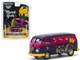 Volkswagen Panel Van Purple Metallic Mardi Gras 2020 Hobby Exclusive 1/64 Diecast Model Greenlight 30126