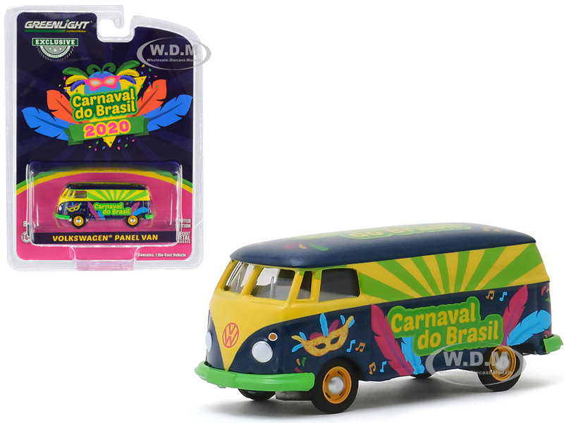 Volkswagen Panel Van Carnaval do Brasil 2020 Carnival of Brazil Hobby Exclusive 1/64 Diecast Model Greenlight 30127
